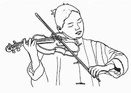 boy with a violin coloring pages for kids coloring point