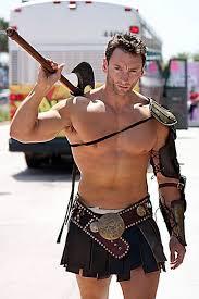 Muscle Man Halloween Costume Gladiator Leathermen Gladiators Eye Candy