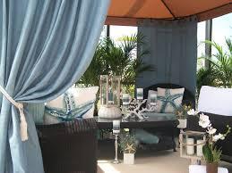 Blue Burlap Curtains Patio Pizazz Outdoor Gazebo Drapes