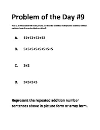 math problem of the day 2 6a teks multiplication math series tpt