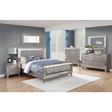 Coaster Furniture Bedroom Sets by Coaster Leighton Bedroom Set With Wavy Metallic Leatherette Upholstery