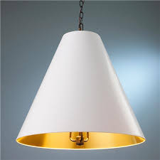white and gold pendant light oversized cone paper shade pendant pendants lights and circa lighting