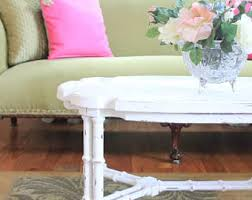 Painted Wood Coffee Table Painted Coffee Table Etsy