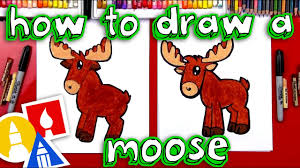 how to draw a cartoon moose youtube
