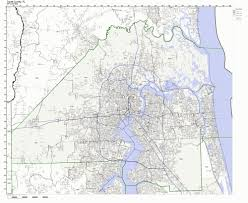 Map Of Florida Zip Codes by Amazon Com Duval County Florida Fl Zip Code Map Not Laminated