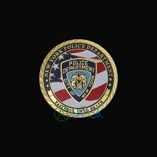 New York Flag 1pcs Us Flag New York City Police Department Nypd Challenge Coin