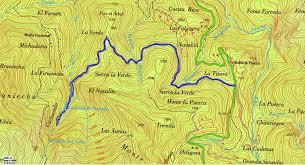Map A Walking Route by Hiking And Walking In Asturias Spain Xiblu Waterfall Walking