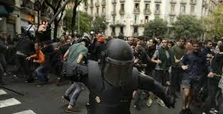 gummikugeln blut und viele verletzte in katalonien politik