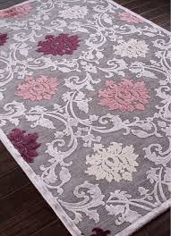 Damask Round Rug I Really Like The Floral Pattern Of This Rug With The Purple Pink