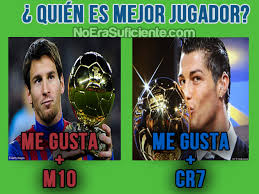 imagenes del real madrid con frases chistosas messi vs cristiano ronaldo no era suficiente