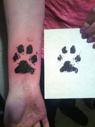 effy and shea u0027s real paw prints on my foot tattoo ideas