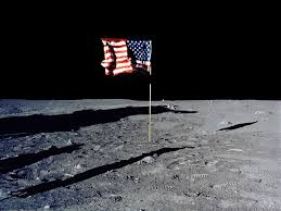 Moon Flag From Earth If No One Owns The Moon Can Anyone Make Money Up There The
