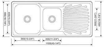 Double Sink Kitchen Size by Kitchen Sinks Dimensions Small Undermount Kitchen Sink Single