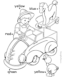 color worksheets for kindergarten kids coloring