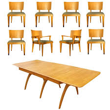 heywood wakefield butterfly dining table heywood wakefield butterfly dining table and eight chairs at 1stdibs