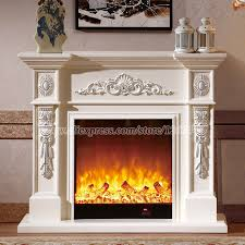 Electric Fireplace With Mantel Living Room Decorating Warming Fireplace W120cm Wooden Fireplace