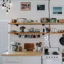 vintage kitchen island dare to store open shelving cookingware storage dishware storage