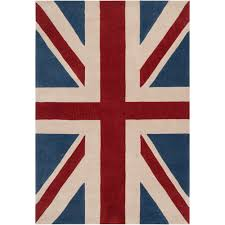 Overstock Com Pets Hand Tufted Contemporary Union Jack Red Pipefish Abstract Rug 5