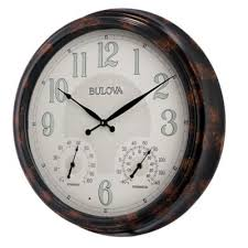 the 24 outdoor lighted atomic clock buy lighted outdoor clocks from bed bath beyond