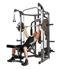 amazon com marcy combo smith cage machine with workout bench and