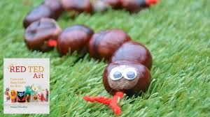 autumn crafts conker snake aka buckeyes youtube