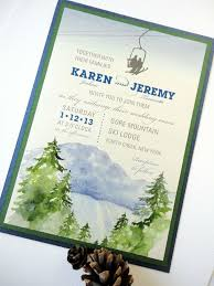 mountain wedding invitations 12 best wedding invitations images on mountain wedding