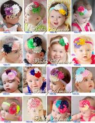baby hair ties flower baby headbands hairtie bands lace hairband