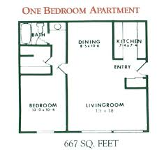 One Bedroom Townhouse 1 Bedroom Apartment Floor Plan For Rent At Willow Pond Apartments