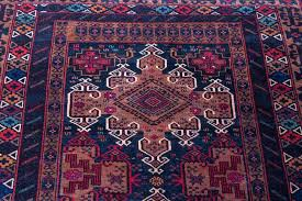 finely hand knotted baluch rug from herat environs of west afghanistan