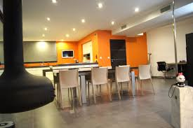 decoration salon cuisine cuisine et salon moderne inspirational awesome deco salon blanc gris
