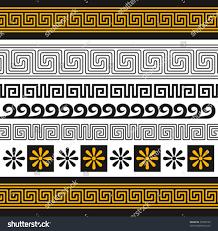 vector set greece ornaments you can stock vector 72548122