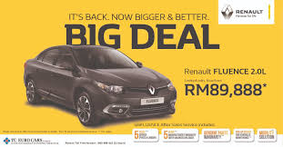 renault malaysia tc euro cars announces renault fluence u0027big deal u0027 campaign prices