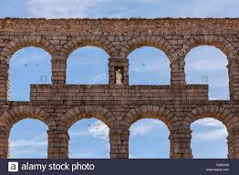 roman aqueduct segovia spain europe view of this stunning
