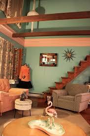 retro livingroom mid century retro living room that wall color color me bad