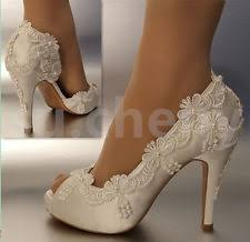 ivory shoes for wedding satin bridal shoes ebay