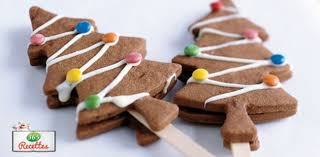 recettes de cuisine pour noel recette biscuits chocolat en forme de sapin de noel