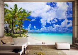 photo wallpaper customized beach sea view wallpaper for walls 3 d
