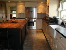 kitchen white country kitchen with butcher block stylish brown