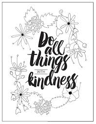 coloring pages on kindness with kindness coloring page favecrafts com