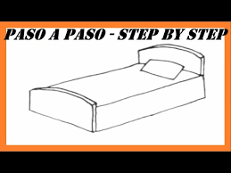 How To Draw A Bed Easy Step For Kids How To Draw A Tv