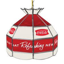 coca cola pendant lights trademark global coca cola vintage stained tiffany l wayfair