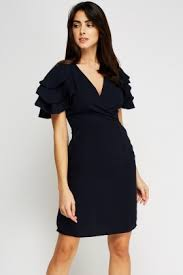 sleeve wrap dress layered sleeve wrap dress just 5