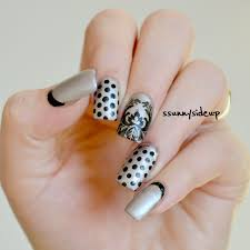 ssunnysideup polka dots meets ruffian manicure with a baroque