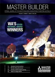 2016 master builders western australia magazine march april by