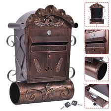Whitehall Wall Mount Mailbox Wall Mounted Mailbox Vintage Bronze Lockable Letterbox Post