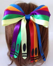 back to school hair bows how to make a crayon inspired back to school hair bow bowdabra