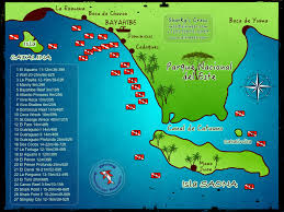 Map Dominican Republic Dive Sites Sharky U0027s Crew