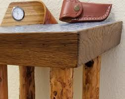 Rustic Accent Table Rustic End Table Etsy