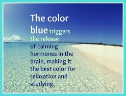 blue is the best color for relaxation beach bliss living