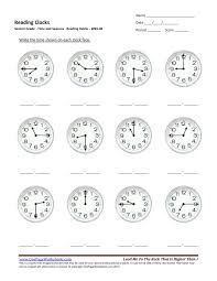 second grade reading clocks worksheet 06 u2013 one page worksheets